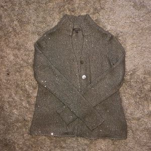 JJill Silver sparkly sweater